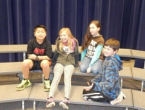 Photo Credit: BARBARA SHERMAN - The Deer Creek Elementary fourth-grade Cyclops Crushers team consists of (from left) Alex, Megan, Morgan and Ryan.