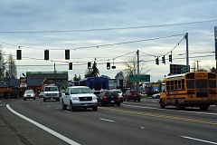 Photo Credit: HILLSBORO TRIBUNE PHOTO: KATHY FULLER - A proposed safety project will improve traffic flow and pedestrian and bicyclist safety along Tualatin Valley Highway at 185th Avenue in Hillsboro.