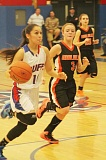Photo Credit: JEFF WILSON/THE PIONEER - Mariah Stacona overcame three first-half fouls and scored 20 points to help the Buffs beat Molalla and move to 3-1 in Tri-Valley Conference play.