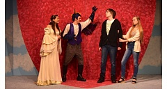 Photo Credit: PHOTO COURTESY: OCHS - In 'Time Warp,' directed by Kylee Brevick, actors (from left) are Hope Harmon, Josh Morton, Dmitri Dodge and Danell Graziano.