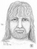 Photo Credit: CONTRIBUTED PHOTO - A sketch depicting the suspect was released on Tuesday, Feb. 17. The mid-length red hair pictured is believed by authorities to be a wig.