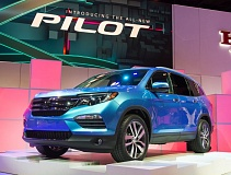 Photo Credit: PORTLAND TRIBUNE PHOTO JOHN M. VINCENT - The 2016 Honda Pilot is all-new with a larger interior and an exterior design that takes cues from the rest of the Honda lineup.  It's expected in dealerships this summer.