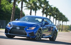 Photo Credit: PORTLAND TRIBUNE PHOTO JOHN M. VINCENT - The Lexus RC's exterior features the brand's signature spindle grille and a body styled in ripples and creases. Compared to many modern coupes, visibility from the RC is excellent.