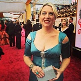 Photo Credit: SUBMITTED PHOTO - 'Wild' author Cheryle Strayed walks the Red Carpet on Sunday in a dress designed by Lake Oswego's Michelle DeCourcy.