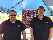 FILE PHOTO COURTESY OF TWO KILTS - According to a Facebook post, Two Kilts owners Chris Dillon, left, and Alex McGaw will continue to brew their variety of beverages in the Sherwood Industrial Park off of Tualatin-Sherwood Road. Late last year, the brewery announced plans to leave Sherwood for a new location in downtown Hillsboro with Dillon saying they found the city of Sherwood to have some 'challenging' fees and attitudes about small businesses.
