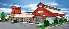 Photo Credit: SUBMITTED PHOTO - Throwback - The Old Mill Market Place development sought to include in its design a nod to the community's rural heritage and agribusiness. The first phase of the project will be a 10,000-square-foot building with six commercial tenants, with more buildings planned for subsequent phases