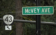 Photo Credit: REVIEW PHOTO: VERN UYETAKE - Lake Oswego owns and maintains McVey Avenue, while Highway 43 belongs to the state of Oregon.
