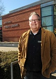 Photo Credit: TIDINGS PHOTO: VERN UYETAKE - Leaving his position at Lewis & Clark College, where he spent 24 years working at the library, was difficult for Doug Erickson, but he's thrilled to now be at the helm of the West Linn Public Library.