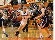 Photo Credit: JIM BESEDA/MOLALLA PIONEER - Molalla freshman Sierra Cox and the Indians travel to Madras for a 5:30 p.m. Class 4A play-in game.