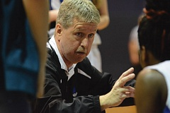 Photo Credit: THE OUTLOOK: DAVID BALL - Portland Lutheran coach John Roady addresses his team during a second-half timeout.