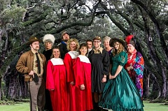 Photo Credit: AL STEWART/TUALATIN - Actors in ''Gone with the Wind' meets Texas' include (from left) Stephen Radley, Virginia Kincaid, Sarah Ominski, Michael Allen, Janelle VanPelt, Diana LoVerso, Ted Schroeder, Tyler Beadle, Pat Romans, Aurea Taylor and Pamela Hough.