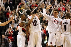 Photo Credit: COURTESY OF DAVID BLAIR - The Trail Blazers pick up a big victory over Northwest Division rival Oklahoma City, coming from behind Friday night at Moda Center.