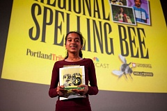 Photo Credit: TRIBUNE FILE PHOTO - Two-time champion Divya Amirtharaj of Beaverton will return this Saturday to defend her title at the 2015 Portland Tribune/Comcast Regional Spelling Bee at the Hollywood Theatre in Northeast Portland.