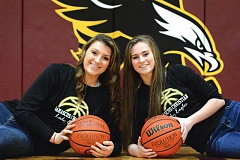 Photo Credit: THE OUTLOOK: DAVID BALL - Damascus Christians Hannah Forrar, left, and Ana Wakefield provide a solid 1-2 scoring punch for the states top-ranked girls team.