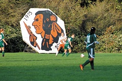 MOLALLA PIONEER FILE PHOTO - Molalla Indians mascot at the Molalla High School soccer field.