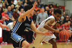 THE OUTLOOK: DAVID BALL - David Douglas point guard John Morris looks for space on the perimeter. His 3-pointer late in regulation tied the game 51-51.