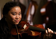 TIMES PHOTO: JAIME VALDEZ - Fumika Mizuno, a sophomore at Tualatin High School, is a member of the Portland Youth Philharmonic and recently found out that she'll be a member of this year's Carnegie Hall National Youth Orchestra.