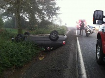 SUBMITTED - An accident Monday morning on Macksberg Road, near Canby