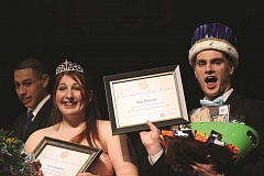 PHIL HAWKINS - Sam Wheeler and Emily Saalfeld were crowned this years Mr. and Miss Gervais Saturday night at the conclusion of the high school's annual pageant. The events 12 contestants, along with school staff and volunteers, helped raise $13,434.30 for Kids Making Miracles and Doernbecher Children's Hospital.
