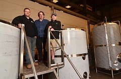 TIDINGS PHOTO: VERN UYETAKE - From left, Colin Preston, Tim Hohl and Dave Fleming have joined together to create Coin Toss Brewing.