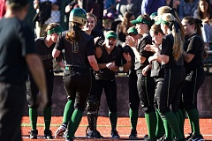 Jesuit teammates greet Emma Gordon (6) at home plate after her home run Wednesday against Lincoln.
