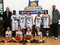 SUBMITTED PHOTO - STATE'S BEST -- The Tigard sixth-grade girls basketball team triumphed at the state tournament earlier this month.