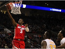 COURTESY OF DAVID BLAIR - Shannon Scott of Ohio State goes in for a layup in the Buckeyes' victory against Virginia Commonwealth.