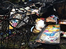 SUBMITTED PHOTO - A Sunday night fire destroyed teaching supplies and other materials belonging to Aloha High School's on-campus daycare program.