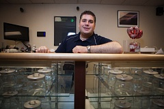 OUTLOOK PHOTO: ADAM WICKHAM - Gresham resident Aaron Michelsen has prepared for a year; based on the hope that he will be able to open the first medical marijuana dispensary in East County.