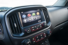 TRIBUNE PHOTO JOHN M. VINCENT - Both the GMC Canyon and Chevrolet Colorado midsize pickups include an available app-based information and entertainment interface. An onboard cellular connect provides 4G LTE mobile connectivity.