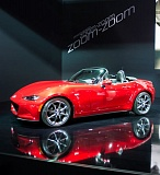 TRIBUNE PHOTO JOHN M. VINCENT - The 2016 Mazda MX-5 Miata doesn't go on sale until later this year, but you can drive it now on the Forza Horizon 2 game on the Xbox gaming platform. If you're good enough, you might even win the real thing.