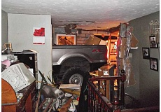 SUBMITTED PHOTO - Charles Wilda, of Culver, was pinned in his bed in the early morning hours of March 30, 2013, when an intoxicated driver fell asleep and crashed into his house. Wilda has filed a complaint against the driver asking for a jury trial and damages.