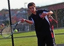 DAN BROOD - BACK FOR THE BOWMEN -- Junior Clay Voydat returns to play at No. 1 doubles for Sherwood this year.