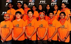 COURTESY OF RICHARD HETZLER - The Techaholix robotics team was made up of middle-school students from Beaverton. The team was a division finalist in the western super-regional competition.