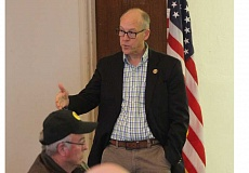 JEFF WILSON - U.S. Rep. Greg Walden held a town hall Tuesday morning in Madras, meeting with veterans and others at the Jefferson County Library Rodriguez Annex.