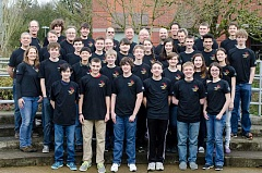 SUBMITTED PHOTO - The  members of FIRST Team 1425 - Error Code Xero - has qualified for an international competition, to be held in St. Louis, Mo., later this month. The team qualified after competing at the Pacific Northwest Regional competition in Cheney, Wash., last weekend.