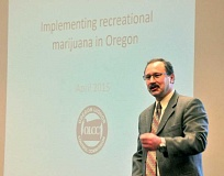 GARY ALLEN ---  - Talking pot -- OLCC Executive Director Steven Marks fielded questions and concerns about the timeline and implementation of Measure 91 at a town hall event in Dundee last week hosted by Sen. Kim Thatcher and state Reps. Bill Post and Jim Weidner.