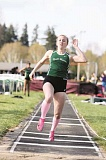 PHIL HAWKINS - Though she scratched in three attempts at the long jump, North Marion senior Hannah Schweighardt placed second in both the 100 and 200 at Thursdays home meet against Yamhill-Carlton, Cascade and Willamette Valley Christian.