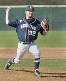 SETH GORDON ---  - In relief -- Blake Stassi unfurls a pitch during George Fox's 14-4 loss to visiting Puget Sound Sunday. Stassi gave up three runs in three innings of relief.