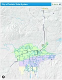 SUBMITTED PHOTO - The line on this map represents the Tualatin Supply Line, which connects with the Washington County Supply Line at Oleson Road to bring the city water daily. Tualatin is a wholesale customer with Portland, and can currently use up to 10.8 million gallons of water a day.