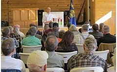 SUBMITTED PHOTO - U.S. Rep. Greg Walden speaks at a March 31 town hall meeting in Madras.