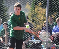 MATTHEW SHERMAN - Matt Perkins was the Lions' top singles player as a freshman last spring. He returns to anchor West Linn's singles bracket again on a senior-laden team.