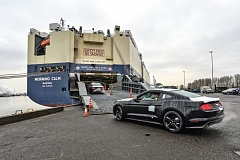 COURTESY PORTLAND OF PORTLAND - Ford is shipping new Mustangs to China through the Port of Portland. Thats just a small percentage of all cars and trucks that move through it.