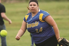 PHIL HAWKINS - Junior Emma Bustamante started Friday against Jefferson and comes in as the Cougars No. 2 pitcher.