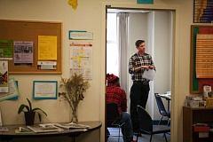 TRIBUNE PHOTO: ADAM WICKHAM - GED Instructor Alan Smith teaches parolees trying to get their lives back on track at the Londer Learning Center. Smith says a new GED test in 2014 has discouraged many of his students who are unable to meet the tougher standards. 'I think a lot of graduating high school seniors would have difficulty passing this exam.'