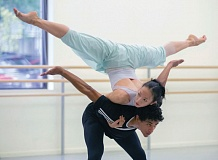 PHOTOS COURTESY OF BLAINE TRUITT COVERT/OBT - Oregon Ballet Theatre dancers Xuan Cheng and Jordan Kindell rehearsing Nacho Duatos Rassemblement. Kevin Irving, OBTs artistic director, hopes to open all eyes with the Impact show, which features choreographer Darrell Grand Moultrie.
