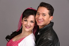 CRAIG MITCHELLDYER - You know them. You love them - Sandy Dumbrowski (Kylie Clarke Johnson) and Danny Zuko (Peter Liptak) are back in Grease at Broadway Rose Theatre.