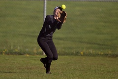 JAIME VALDEZ - Tigard senior Alexa Hansen makes a catch in center field during the Tigers' game at Oregon City.