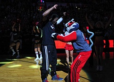 TRIBUNE FILE PHOTO: WESLEY MATTHEWS - When healthy, Wesley Matthews provided the Trail Blazers with lots of 3-point shooting and more, and gave mascot 'Blaze' a target for some good-natured ribbing.