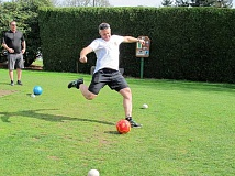 SUBMITTED PHOTO - Play foot golf at the Lake Oswego Golf Course. Free golf lessons will be offered May 2 by the courses professionals.